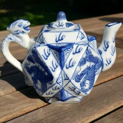 Qianlong Qing Dynasty Circa 18th Century Rare Collectable Blue White Teapot