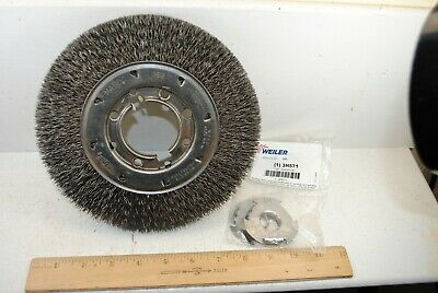 "Osborn 8"" X 1"" Wire Wheel for 3/4"" Arbor"