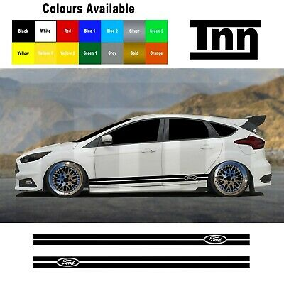 Ford Focus Fiesta Mondeo ST RS Side Stripe Stickers Racing Stripes Decals Turbo