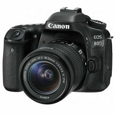 Canon EOS 80D 24.2MP Digital SLR Camera With EF-S 18-55mm f/3.5-5.6 IS STM Lens