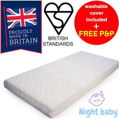 Travel Cot Foam Mattress + Cover Thick Cool 4 Mamas & Papas Chicco Graco 95 x 65