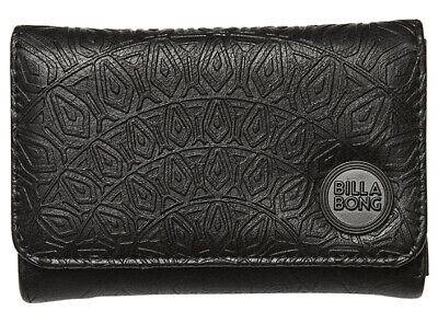 Billabong Moonstruck Womens Girls Trifold wallet purse black - Brand New