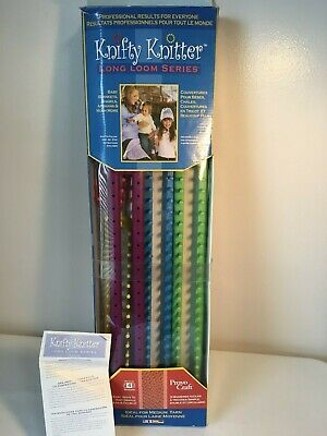 Provo Craft Knifty Knitter Long Loom Set Of 5 / Scrarf Blankets Afghans