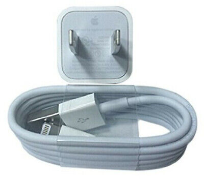 ORIGINAL Apple iPhone Lightning Cable + USB Charger for 6 6s 7 8 XS X Plus
