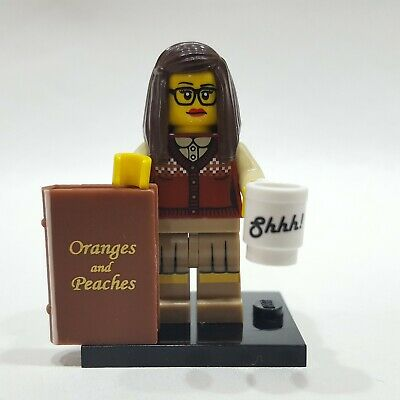 New Genuine LEGO Librarian Minifig with Book and Cup Series 10 71001