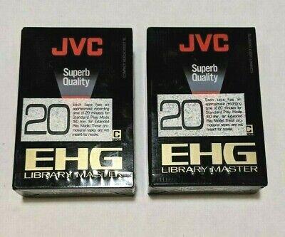 JVC EHG EC-30 Compact Video Cassette VHS C EP Library Master New Sealed Lot Of 2