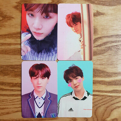 Suga Official Photocard 4 pcs Set BTS Love Yourself Answer Genuine Kpop