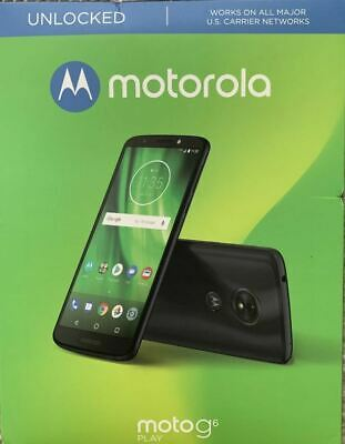 New Motorola Moto G6 Play 32GB Unlocked Phone - Deep Indigo Blue - XT1922-9