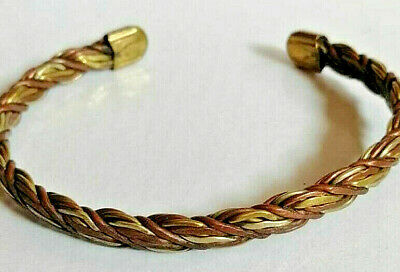 Ancient Viking Medieval Bronze bracelet Twisted artifact stunning rare UNIQUE