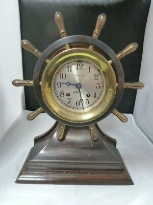 Chelsea Mariner Ship Wheel Bell Clock with  Presentation Tiffany and CO.