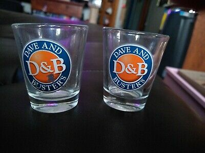 2 Dave And Buster's Shot Glasses