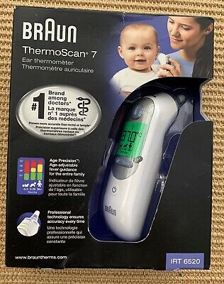 Braun Thermoscan 7 Irt6520 Baby Adult Digital Professional Ear Thermometer -NEW