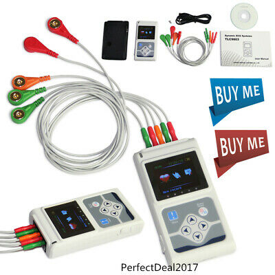 TLC9803 3 Channel ECG/EKG Holter Monitor System 24 hours USB Software,CONTEC
