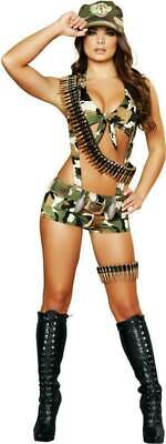 SEXY COSTUME Womens SEDUCTIVE SOLDIER Military Army Camo Combat Cosplay ROMA S/M