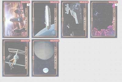 Topps Star Wars Card Trader Space Scapes Bronze Set : Mixed lot of 14