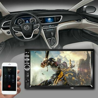 """7"""" 2Din Touch Screen Car MP5 Player Bluetooth Stereo FM Radio USB/TF AUX In X3N8"""