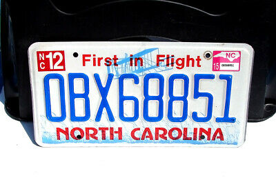 North Carolina Obx Outer Banks License Plate #Obx68851