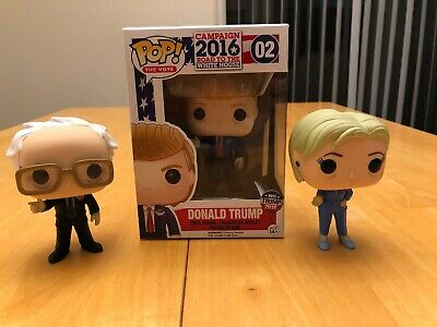 Pop! The Vote : Donald Trump, Hillary Clinton, Bernie Sanders Funko Figures