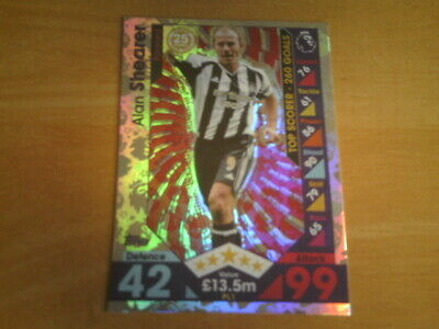 Topps MATCH ATTAX EXTRA 2016/17 - ALAN SHEARER - Legends Foil Card - PL1.
