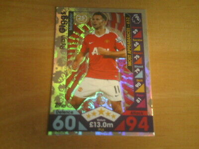 Topps MATCH ATTAX EXTRA 2016/17 - RYAN GIGGS - Legends Foil Card - PL6.
