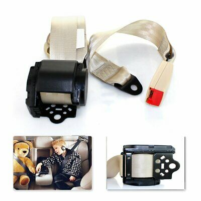 For Tundra Car Truck 3 Point Safety Extender Seat Belt Universal Lap Strap Beige