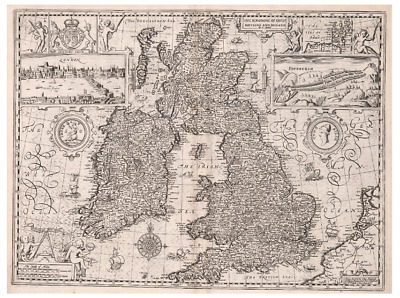 Great Britain Old Antique Map (Extreme Definition PDF) England, Wales, Ireland