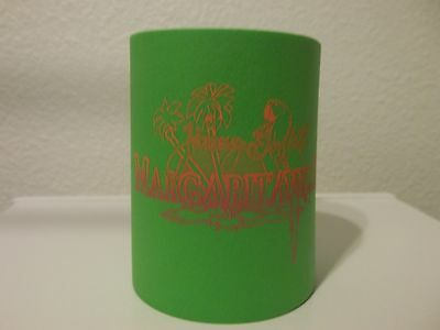 Jimmy Buffett's Margaritaville lime green koozie coozie barware foam parrot palm