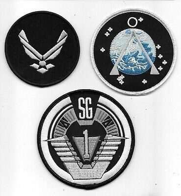 Stargate Sg-1 Uniform Embrodiered Patch Set -new
