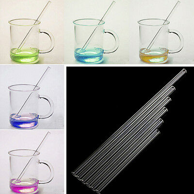 Hot 10mm Pyrex Glass Drinking Straw Wedding Birthday Party Diameter -TOJB