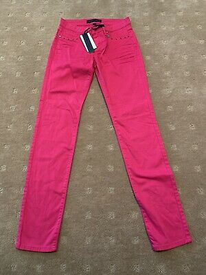 Juicy Couture Girls Skinny Pink Jeans Size 12 Years Brand New With Tags