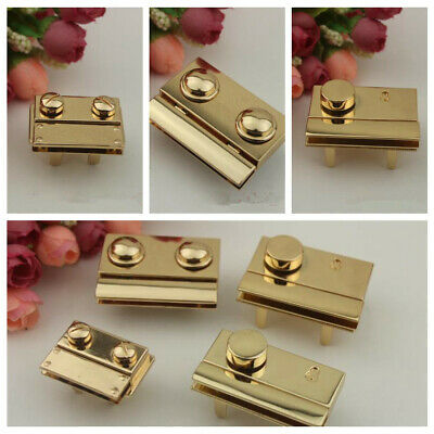 1PC Replacement Lock Leather Briefcase Bag Fastener Latch Hardware Gold New