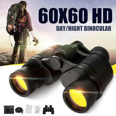 Professional HD 60x60 Army Optics Zoom Binoculars Day Night Hunting Telescope