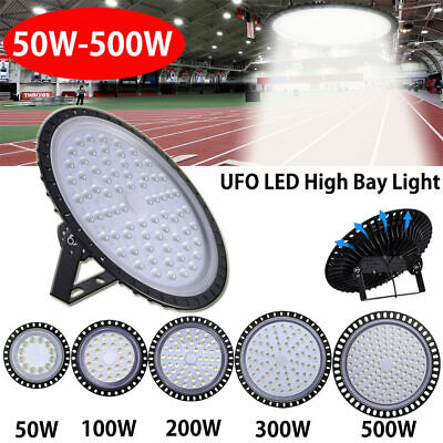 50W-500W UFO LED High Bay Light Commercial Warehouse Industrial Factory Gym AU