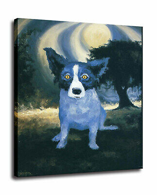 Blue Dog HD Prints on Canvas Cartoon Wall Art Painting 16x20