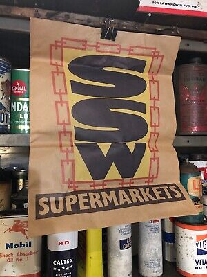 SSW Supermarkets Vintage Shopping Bag Grocery