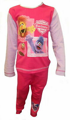 GIRLS SESAME STREET THE FURCHESTER HOTEL PYJAMAS AGES 18-24 months to 4-5 years