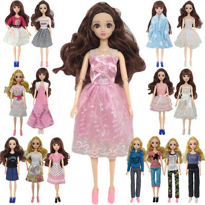 16 Style Clothes For Barbie Doll Pants Short Skirts Casual Outfit Dress Kids Toy