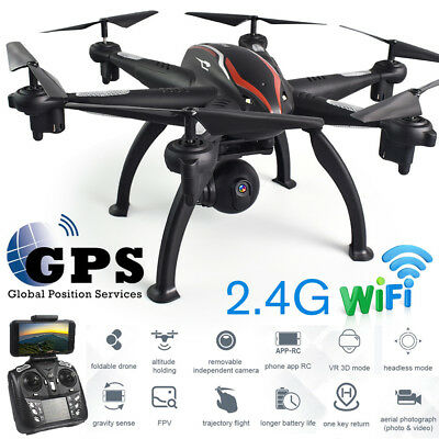 L100 Quadcopter 6 Axis Dual GPS RC Drone 2.4G WiFi FPV Helicopter Wide-angle UK