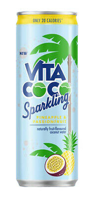Vita Coco Sparkling Pineapple and Passionfruit 330ml (Pack of 12)