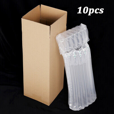 20pcs Single Wine Bottle Strong Cardboard Box W/ Inflatable Air Bags For 750ml