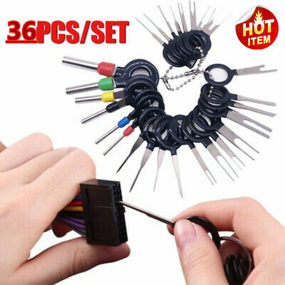 Car Terminal Removal Tool Wire Plug Connector Extractor Puller Release Pin 36pcs