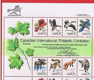 #1757 MNH OG zip block of CAPEX Souvenir Sheet  Free S/H