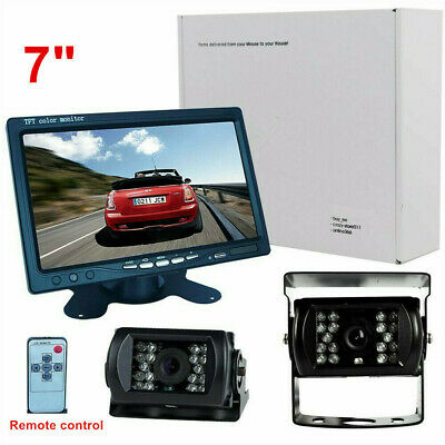 "7"" LCD Monitor Car Rear View Kit +2* IR Reversing Camera for Bus Truck Car"