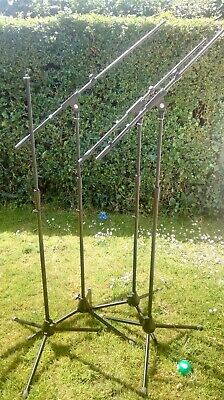 4 Microphone Stands (3 with Adjustable Mic Boom Arm, 1 without Boom Arm)