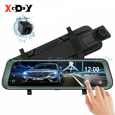 "10"" Car DVR Touch Dash Cam Rearview Mirror 1080P FHD Camera Video Recorder"