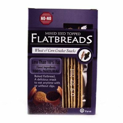No-No Flatbreads Flatbreads - Mixed Seed - 130g (Pack of 12)