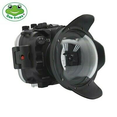 Seafrogs 40m/130ft Underwater Camera Housing Case For Fujifilm X-T3 w/ Dome Port
