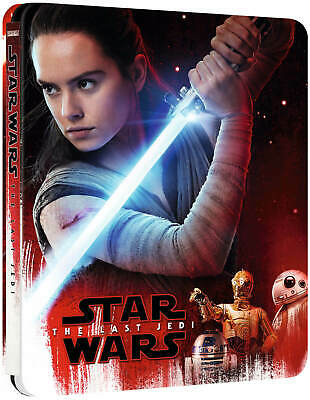 Star Wars THE LAST JEDI - 4k Ultra HD Steelbook Edition - UK - ZAVVI - SEALED