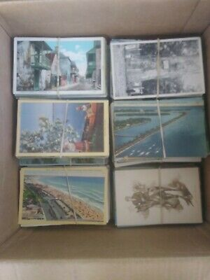 Huge Mixed US Vintage Lot Of 1000 Old And Antique Used & Unused Postcards