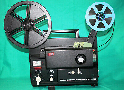 SUPER 8mm, MAG/OPT, 2 TRACK SOUND MOVIE PROJECTOR, ELMO ST-600 M+O  SERVICED A1